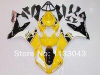 사출 금형 노란색 + 화이트 블랙 페어링 키트 야마하 YZF 04 05 06 YZF-R1 04-06 YZF1000 R1 04 05 06 YZF 2004 2005 200
