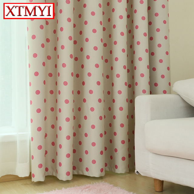 Korean S Pink Baby Room Blackout Curtains For Living Bedroom Fabrics Kitchen Window D