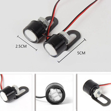 2X12V Motorcycle LED Spotlight Headlight Driving Front Light Fog Lamp Set Useful for Most Motorcycle/Electric Motor/Bike/Car