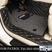 Car Interior Mats for Nissan Patrol Y62 2012 2018 7Seats Anti duty Pads Waterproof Carpet Mats for Patrol Y62 2017