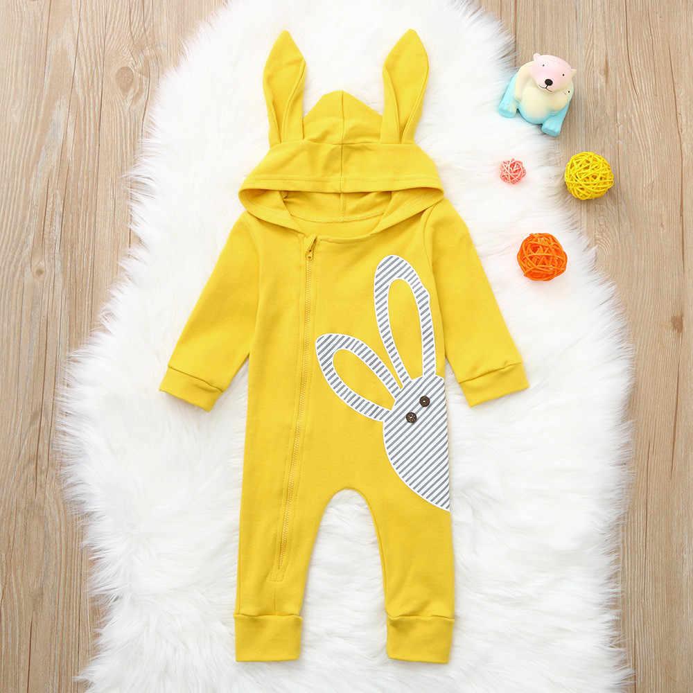 MUQGEW 2018 детские с длинным рукавом мультфильм кролик печати Толстовка комбинезон одежда Bebek giyim Conjunto infantil # WS