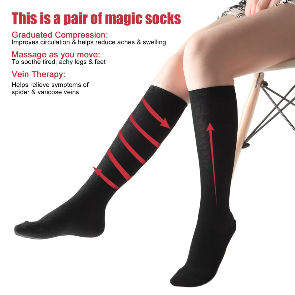 Stockings Underwear & Sleepwears Efficient 3 Pairs Compression Socks Anti-fatigue Compression Socks Foot Pain Relief Soft Magic Socks Men Women Leg Support Dropshipping
