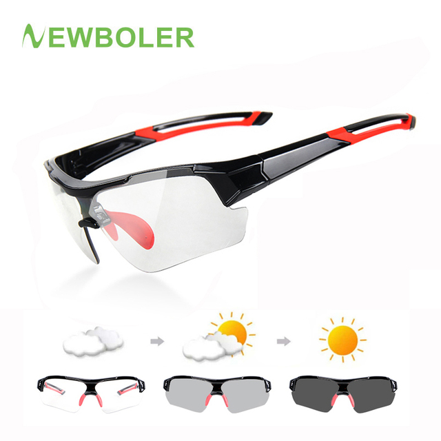 c4303abfabfc NEWBOLER 2019 Photochromic Cycling Bicycle Bike Glasses Outdoor Sports MTB Bicycle  Sunglasses Goggles Bike Eyewear Myopia Frame