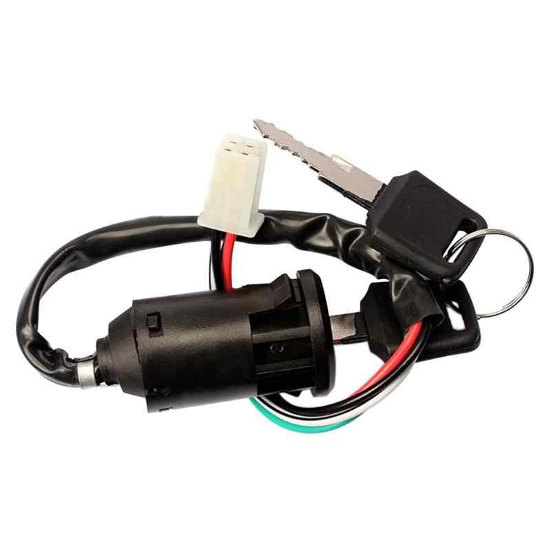 Chave de ignição para motocicleta, interruptor universal de ignição, para moto, com 4 fios, chave de soquete para kawasaki, honda, suzuki, kazuma