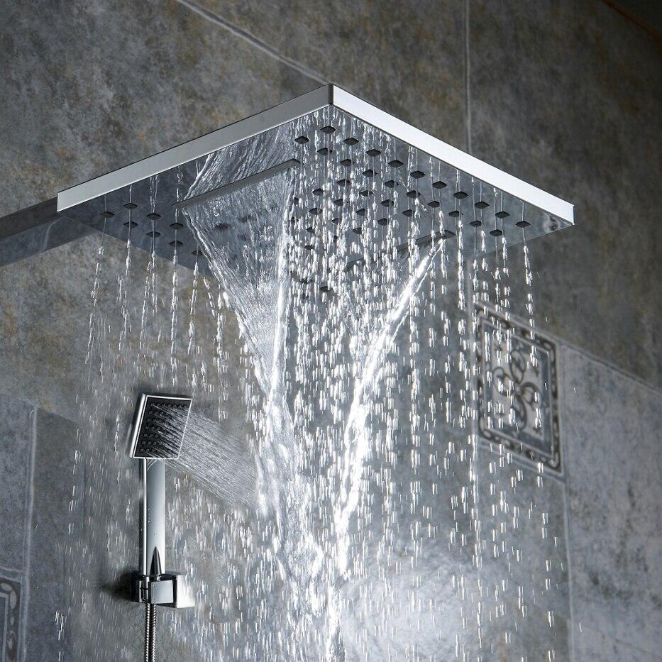 Becola banheiro 8 polegada tipo de pressão tipo Chuva Cachoeira chuveiro de Mão bocal do chuveiro cabeça de chuveiro e chuveiro braço BR-9903