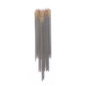 32 шт., большие ручные швейные иглы, инструменты для ремонта кожаных ковров, золотые иглы для глаз, ручная вышивка, аксессуары для шитья