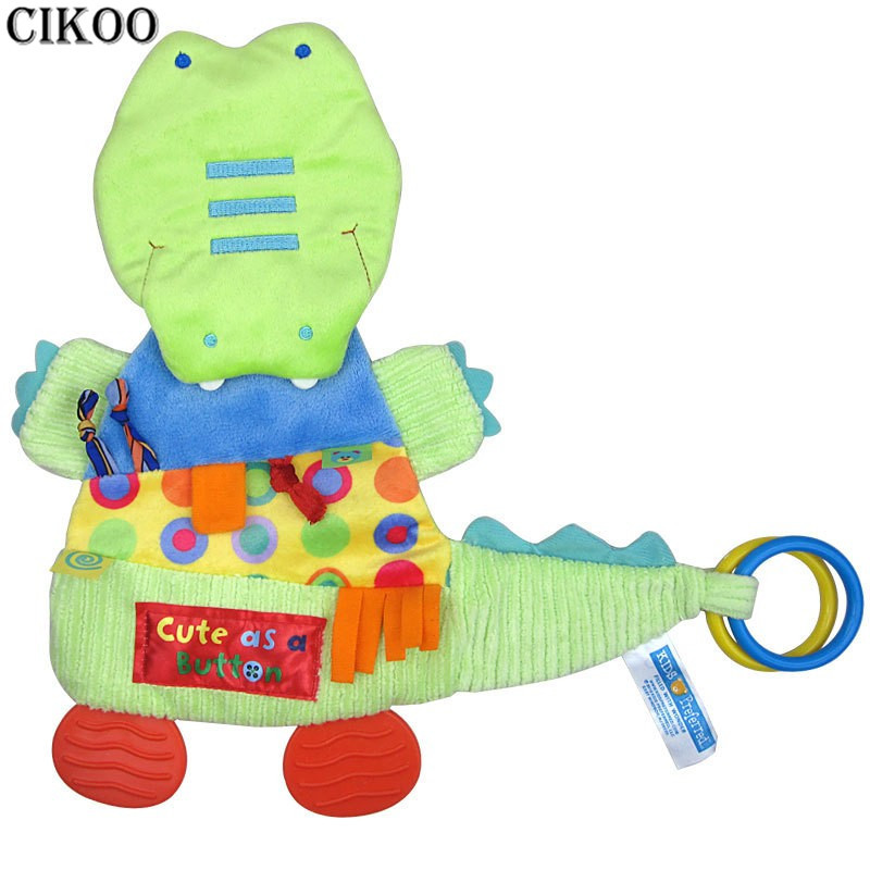 Crocodile Baby TeetherHandkerchief 32cm*32cm Baby Toy Scarf Handkerchief Towel Rattles Doll Gift For Soothe Towel Educational
