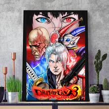 HD Posters Dante Vergil Lady Arkham Jester Sparda Figure Canvas Painting Wall Art Pictures for Living Room Home Decor