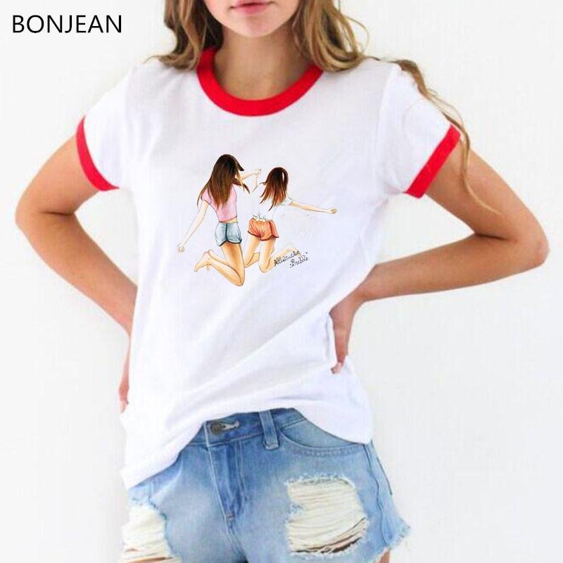 Vogue t shirt women Best Friends Tv show Graphic print T-Shirt femme tumblr Harajuku Kawaii tshirt female 90s Aesthetic Tees