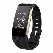 Bluetooth 4.0 S2 смарт-браслет сердечного ритма Мониторы Спорт Водонепроницаемый SmartBand браслет для Android IOS Телефон