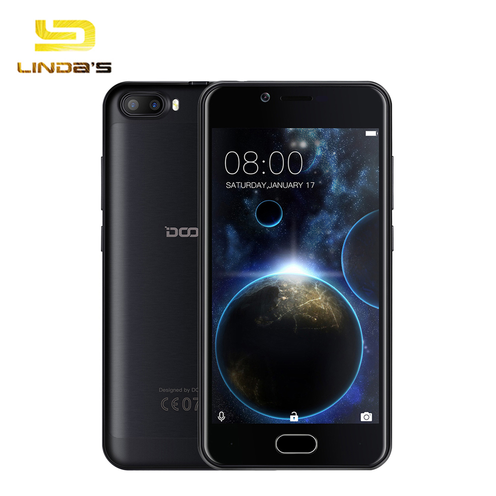 "Dual Cameras 5.0"" DOOGEE SHOOT 2 Smartphone 3G Android 7.0 1GB 8GB Mobile Phone 3360mAh 5.0MP Capacitive Fingerprint Cellphone"