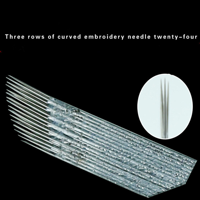 3 Row 16 Needle Permanent Makeup Eyebrow Tatoo Blade Microblading Needles For 3D Embroidery Manual Tattoo Pen Machine