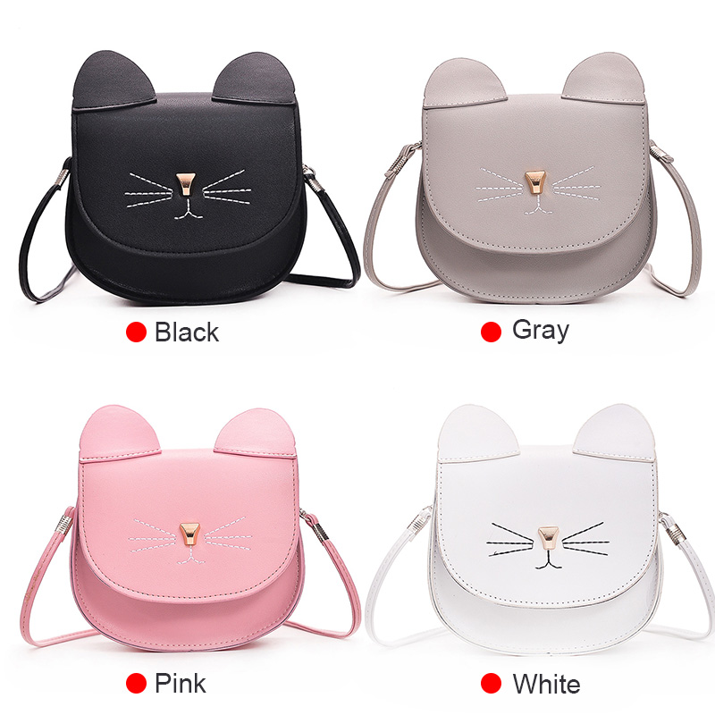 2019 Hot Sale Woman Mini Shoulder Bag PU Leather Cute Cat Ears Handbag Lady Girl Travel Messenger Crossbody Bags  Mujer KA-BEST