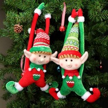OurWarm 2pcs Christmas Tree Elves Ornaments New Year 2019 Plush Dolls Gift Home Decoration Accessories