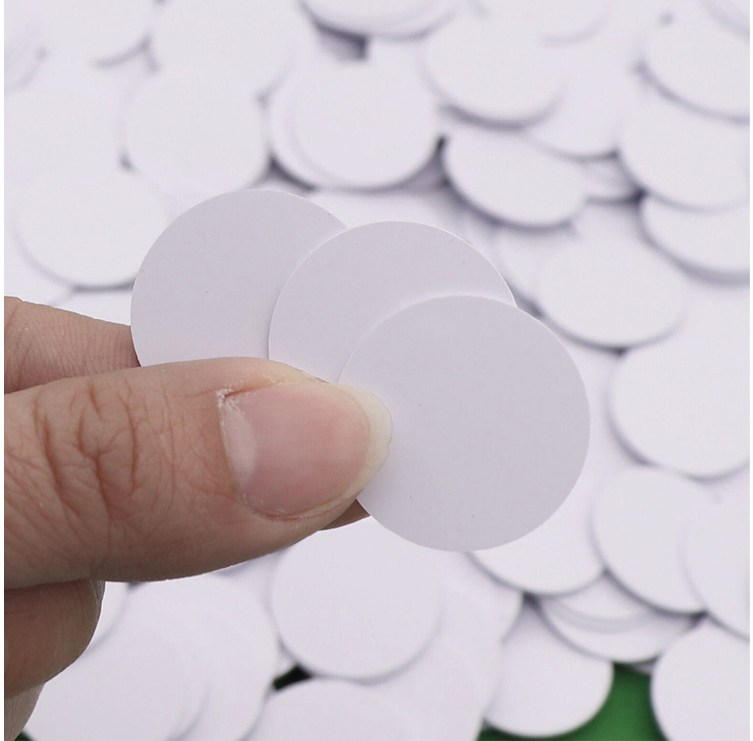 30pcs Ntag215 NFC TAG Sticker Mini Round Coin Card  Support All NFC Smartphones