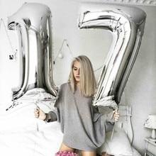 18 Birthday happy birthday balloon First Boy Party Girl foil balloons number Air Balloon Children decoration anniversar