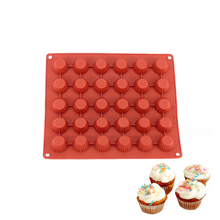 Yiwumart 30 Holes Silicone Mold For Cupcakes Muffin Pastry Chocolate Dessert Decorating Tool Baking Stencil Kitchen Accessiores