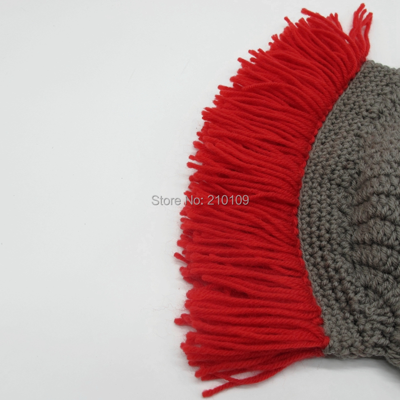 8 Red Tassel roman hat with mask