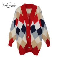 Warmsway 2018 Women thicken Cardigans Autumn Winter Open Stitch Poncho Knitting Sweater Christmas Oversized Jacket Coat C 152