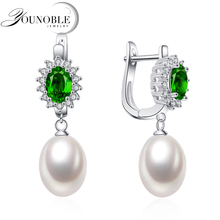 Real White Natural Freshwater Pearl Earrings For Women,925 Sterling Silver Earrings Girl Birthday Gift цена в Москве и Питере