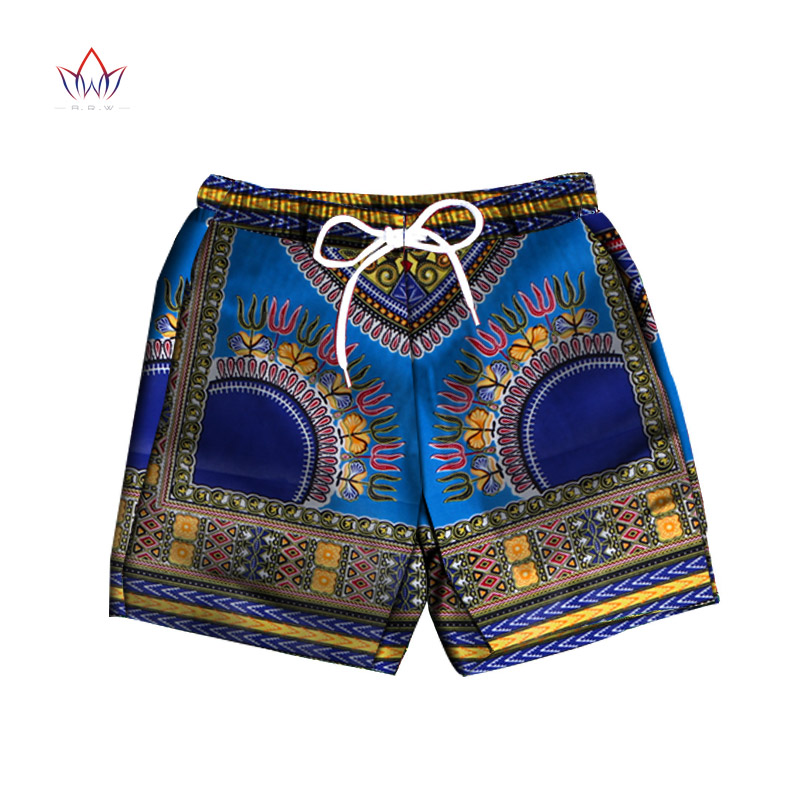 Men Short Pants Dashiki 100% Cotton African Print Short Pants Clothes Customized Beach Short Pants African Style Clothing WYN614