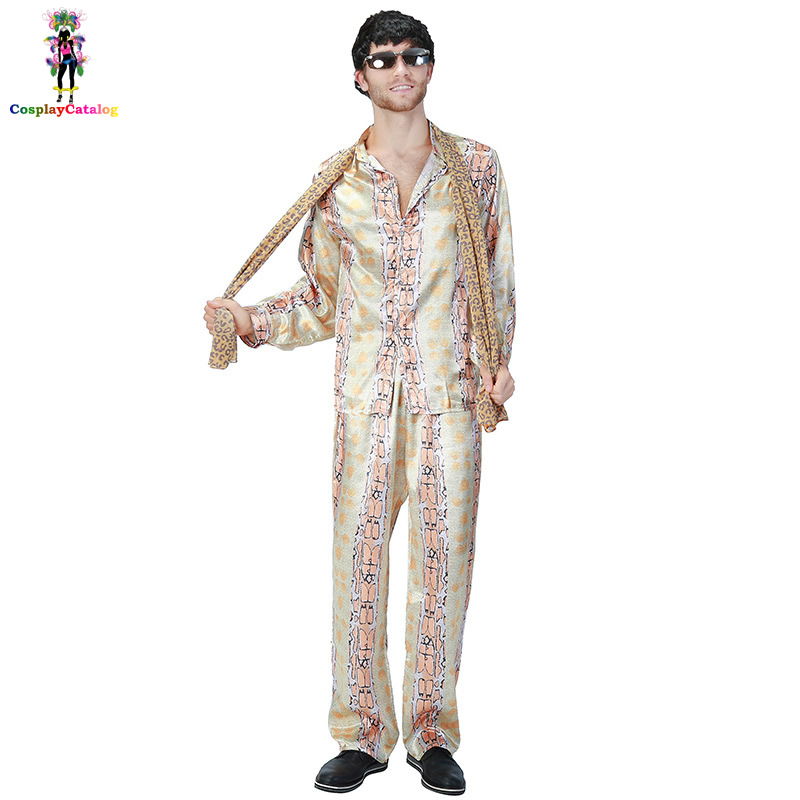 Halloween Funny Man Japan Piko Cosplay Costume Song PPAP Dance Costumes Snakeskin Printed Men's Suits Network Popular Uniforms image
