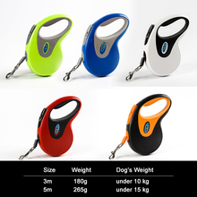 Fenice Colorful Retractable Dog Leash Extending Puppy Walking Leads Pet Running Leashes Hands Freely Great For