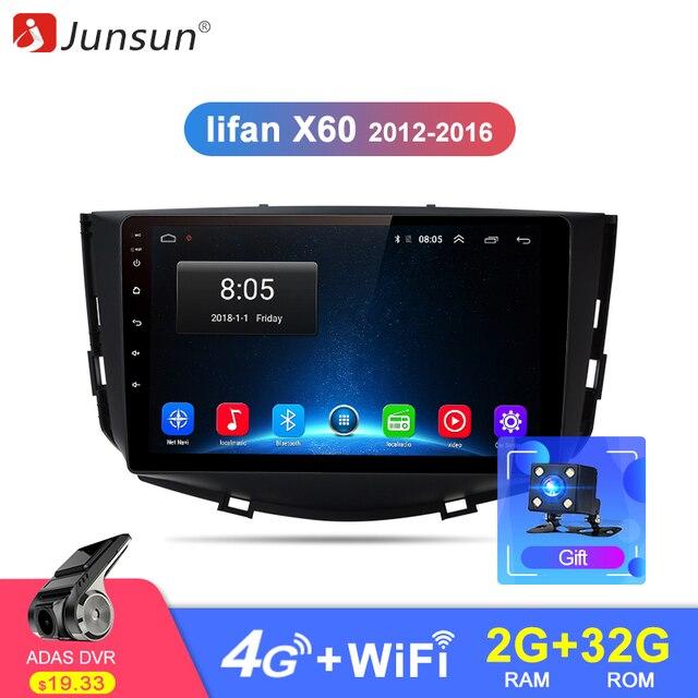 Junsun 2 ГБ + 32 ГБ, Android 8,1 4G автомобиля радио мультимедиа видео плеер навигации gps для Lifan X60 2012 2013 2014 2016 2 din без DVD