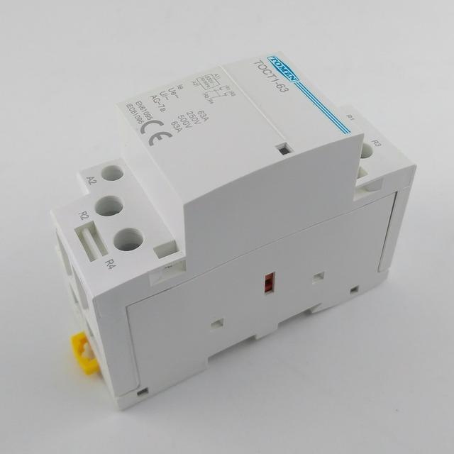 CT1 2P 63A 220V/230V 50/60HZ Din rail Household ac Modular contactor 2NO or 2NC or 1NO 1NC