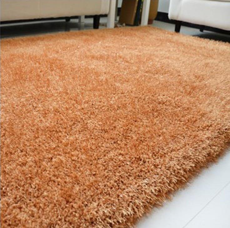 07m14m parlor carpet korea bright silk shag rug living u0026 bedroom soft shaggy area rug multicolor - Shag Carpet