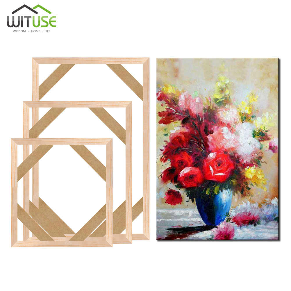 Diy Wooden Inner Frame Wood Stretcher Bar Photo Framework Light Frame for Canvas Prints Oil Painting Wall Art Picture Frames