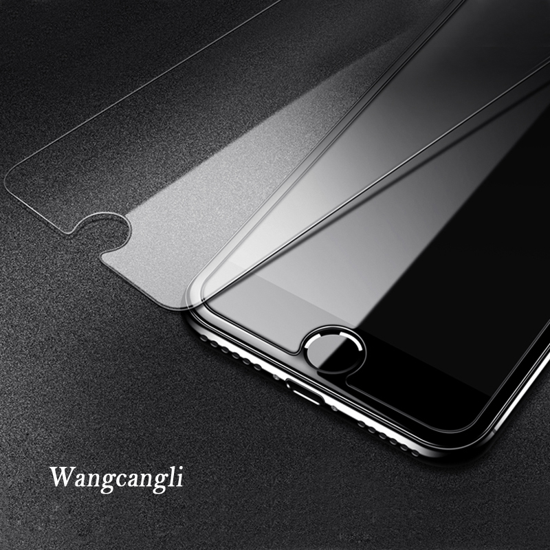 Image 4 - 2.5D 9H protective on the for iphone 7 glass screen protector tempered glass for iphone se 7 8 plus 6 5s 5 4S glass for iphone x-in Phone Screen Protectors from Cellphones & Telecommunications
