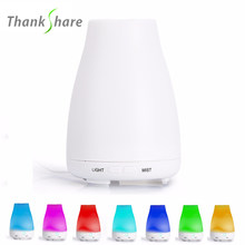 THANKSHARE Ultrasonic Humidifier Aroma Diffuser Aromatherapy Humidificador Essentiel Fogger LED Color Change 120ml For SPA Home