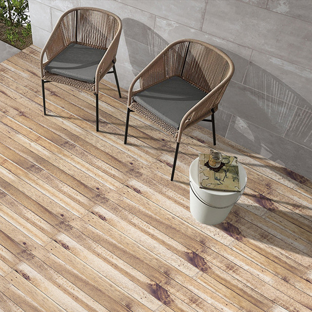 Multi Purpose Wall Paper Self Adhesive Wood Grain Floor Covering Pvc Waterproof Removable