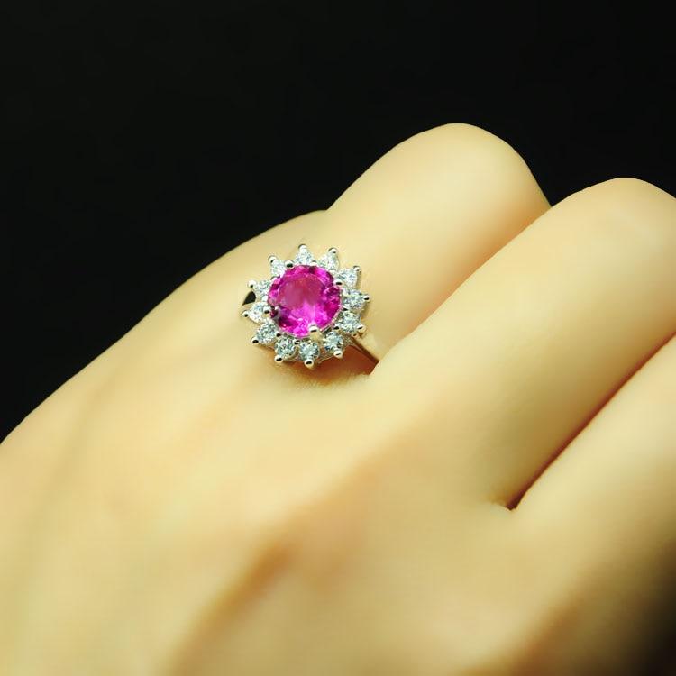 LANZYO 925 стерлінгове срібло рожевий - Вишукані прикраси