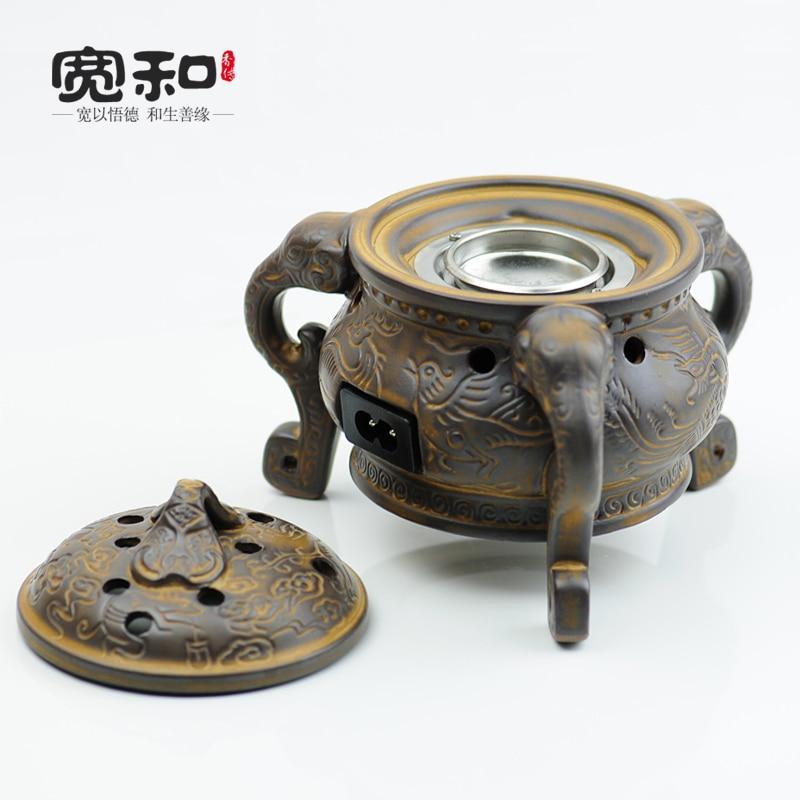Thermostat de four parfumé-céramique idée rétro de trois aromathérapie huile essentielle pied poudre four brûleur d'encens électronique