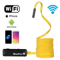 Rigid WiFi Endoscope Waterproof HD Resolutions Inspection Snake Camera with 6 LED Lights for All iPhones/Android Phones/Tablet