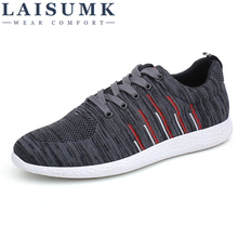 2019 LAISUMK New Men Fashion Casual Shoes Male Footwear Man Breathable Mesh Soft Sneakers Adult