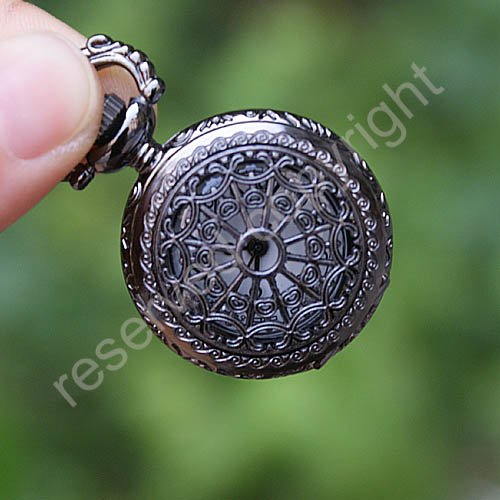 Mini Artistic Skeleton Necklace Quartz Women Ladies Pocket Watch FOB Ship with tracking number Nice Gift Wholesale Price H098