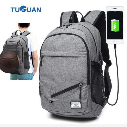 TUGUAN Brand Rucksacks Fashion Men Backpack Bags Travel Mochilas 17 I Laptop Backbag for Charging Phone