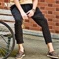 EARL JOEL alta calidad 2015 de los hombres de verano fresco delgado estupendo punto negro straight inglaterra estilo retro pantalones hasta los tobillos moda joven
