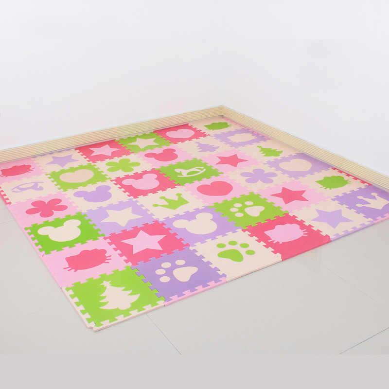 СКК детская пена игра-головоломка напольный Коврики, 18 или 36 шт. переплетенных тренажерный зал Ковры защитный плитка для детей (свободный край) 30x30 см