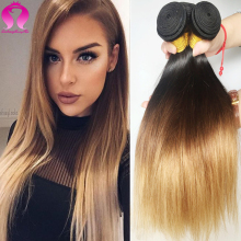 8A Peruvian Virgin Hair Straight Ombre Peruvian Straight Virgin Hair 3 Bundles Human Hair Bundles Sexy Formula Hair Wet And Wavy