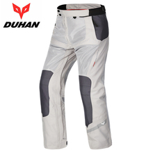 DUHAN Men's Net Fabric Motorcycle Enduro Riding Trousers Motocross Off-Road Racing Pants Knee Protective Touring Adventure Pants