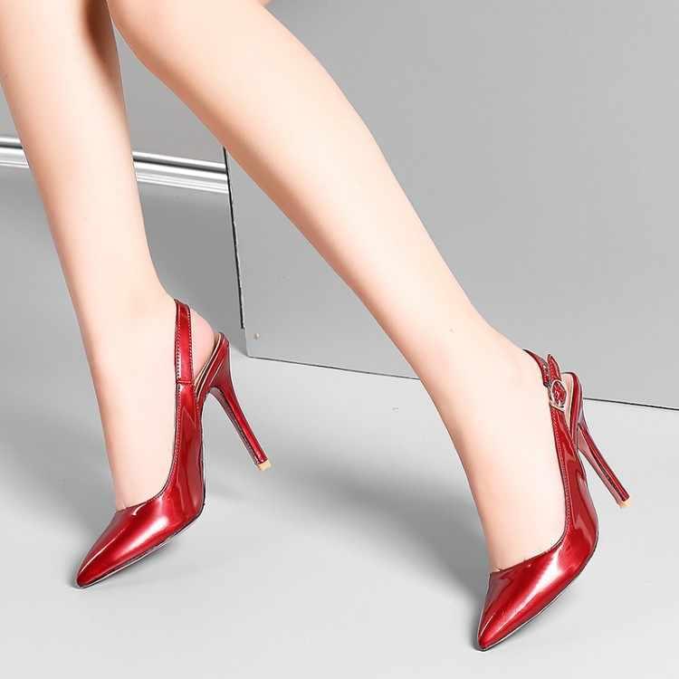 Große Größe 16 high heels sandalen frauen schuhe frau sommer damen Frauen mit spitzen stilettos und high heels