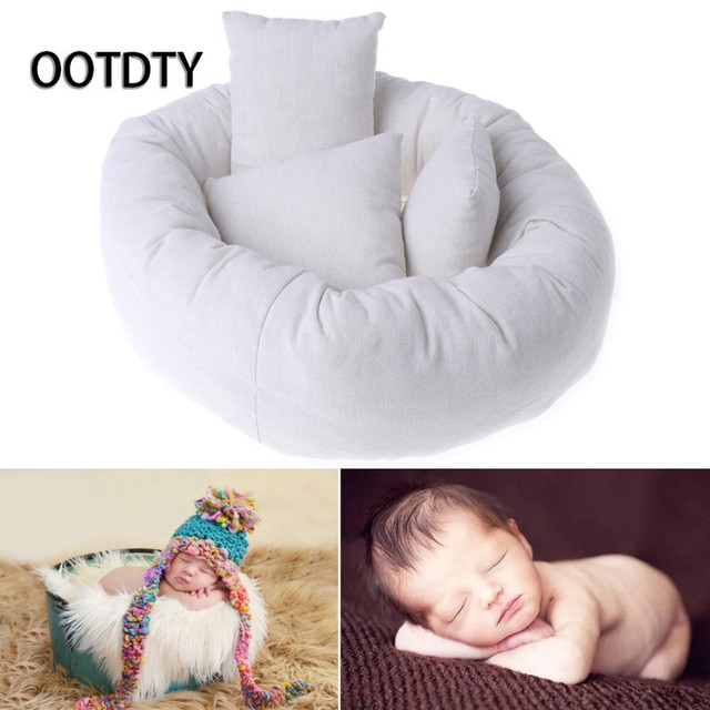 Ootdty photography studio supplies 4pcs baby newborn photography pillow basket filler wheat donut posing photo prop