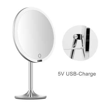 LED Touch Screen Light Makeup Mirror Smart Sensor Desktop Vanity Mirror 8.5 inch HD Mirrors For Beauty Makeup