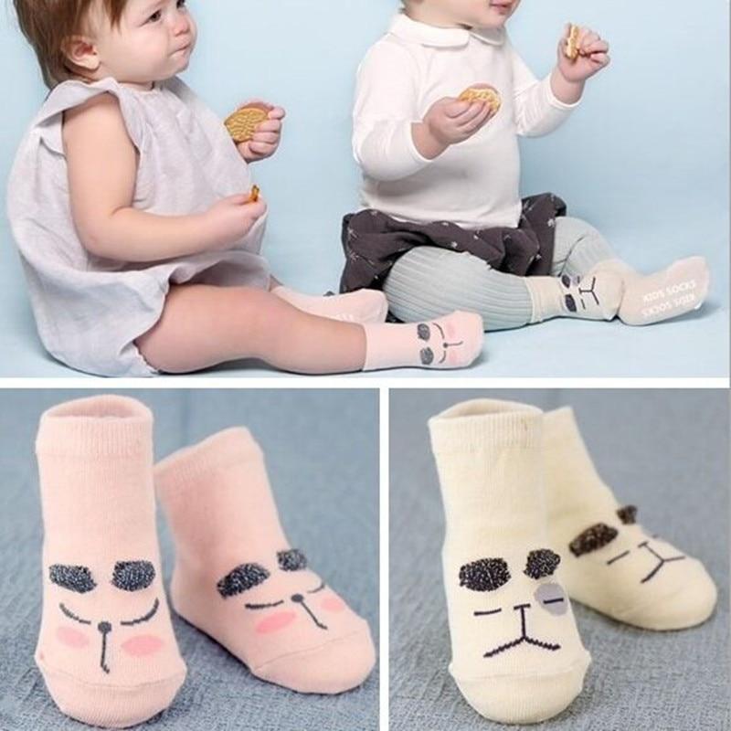 Новинка весны 2016 года носки для младенцев милые нескользящие хлопковые асимметричные носки для новорожденных мальчиков и девочек