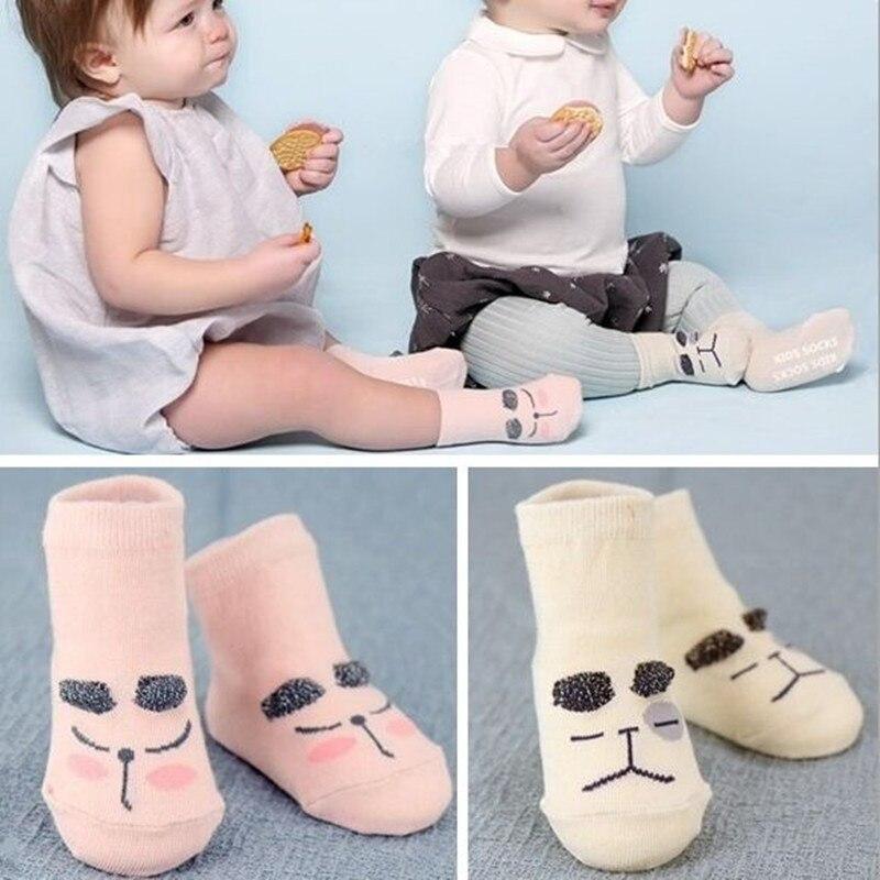 Calcetines antideslizantes de algodón para niños y niñas, medias asimétricas para recién nacidos, Primavera, 2020