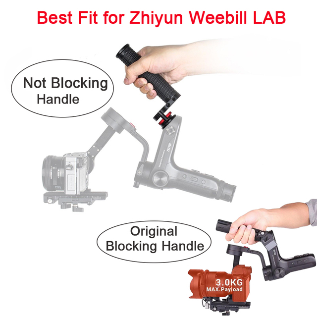 Voor Zhiyun Weebill Lab WB Grip Hand Grip met 1/4 Schroef Gaten Gimbal Accessoires voor Zhiyun Weebill Lab Stabilisator accessoires